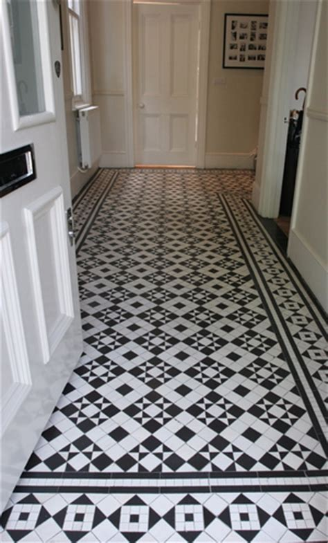 patterned hall tiles 8 mosaic hallway in st peter s road twickenham tw1