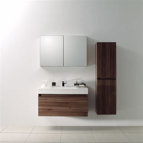 Contemporary Bathroom Vanity Units Lusso Bagno Walnut Designer Bathroom Wall Mounted Vanity Unit 1000 Modern Bathroom