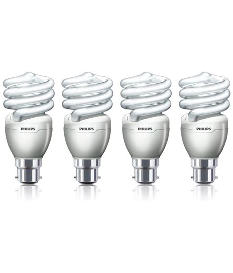 Lu Philips Spiral 24 W philips cfl pack of 4 tornado spiral bulbs 20 w buy philips cfl pack of 4 tornado spiral