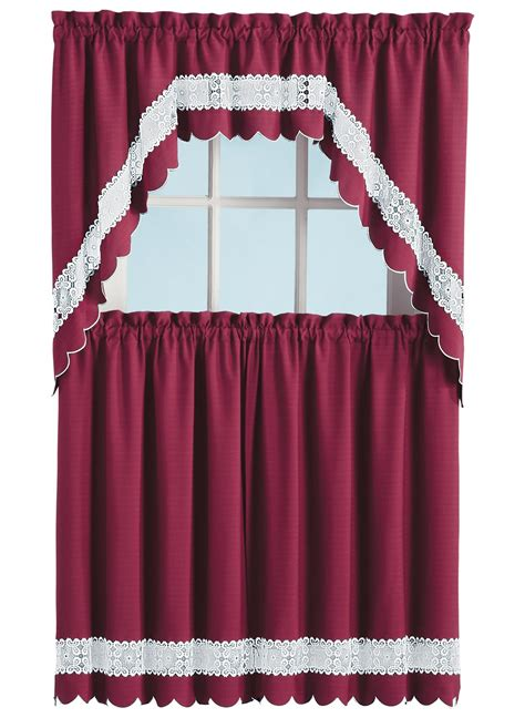 Lace Trim Curtains Solid Curtains With Lace Trim Drleonards
