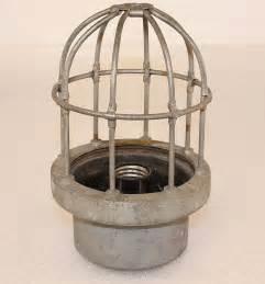 birdcage light fixture vintage industrial brass maritime explosion proof cage