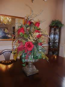 Dining Room Table Floral Centerpieces Burkett Blessings Decorating With Floral Arrangements