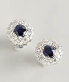 stud earrings for armadani womens blue sapphire and flower stud earrings earring diamantbilds