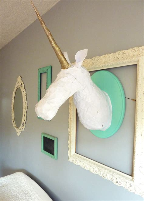 Living Room Ideas On A Budget Pinterest Diy Paper Mach 233 Unicorn Head The Love Designed Life