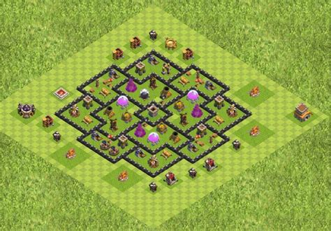 layout coc th8 best th5 farming base
