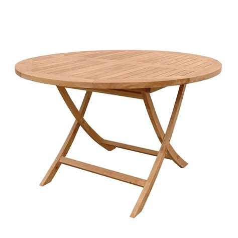 Anderson Teak Tbf 047r Bahama Outdoor Round Folding Dining Folding Patio Dining Table