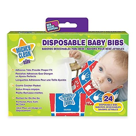 Babiyo Disposable Bibs mighty clean baby 24 pack disposable baby bibs bed bath beyond