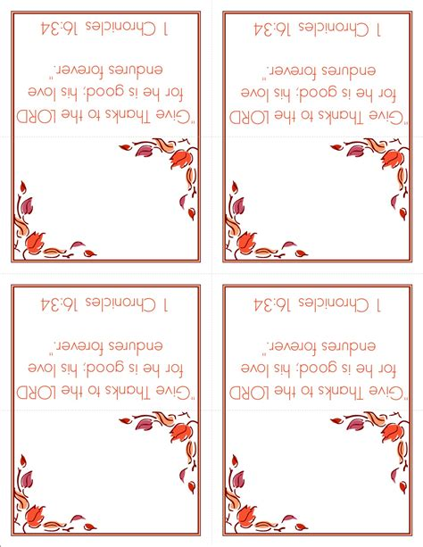 free printable thanksgiving place cards template 6 best images of free blank printable placecards free