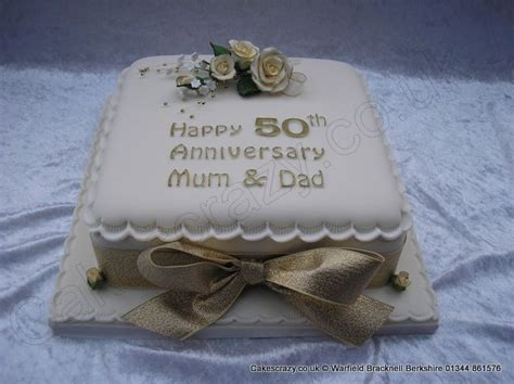 Wedding Anniversary Ideas Sugar by Square Golden 50th Wedding Anniversary Cake With Delicate