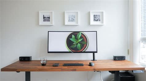 minimalist desk setup a clean minimalistic and ergonomic desk is my diy dream