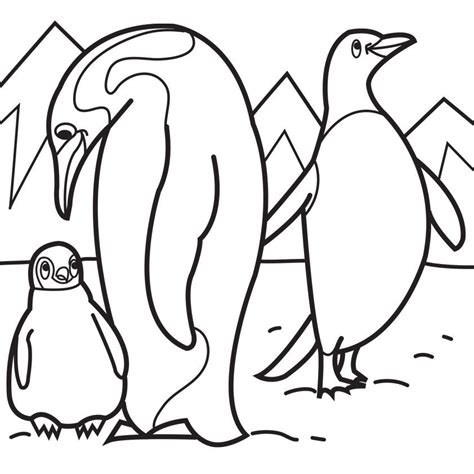 coloring pictures of baby penguins baby penguin coloring pages coloring home