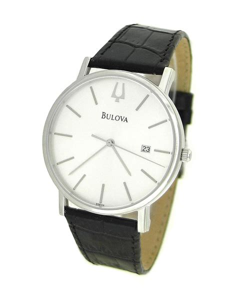 Bulova 96b104 bulova 96b104 bulova leather date mens