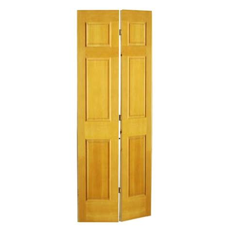 6 Panel Oak Bifold Closet Doors by Shop Reliabilt 6 Panel Oak Bi Fold Closet Interior Door Common 24 In X 80 In Actual 24 In X