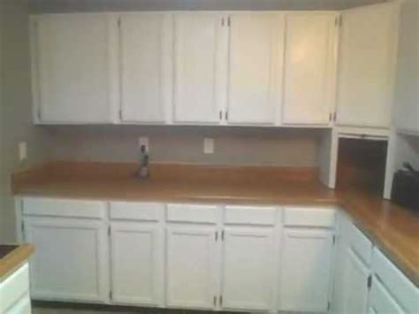 1 YEAR AFTER PAINTING OAK KITCHEN CUPBOARDS CABINETS HIGH