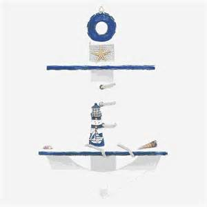 nautical wall shelves woodland imports 67265 seaside nautical anchor themed wall