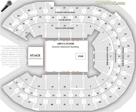 arena floor plan sydney allphones arena general admission flat floor standing layout with concourse
