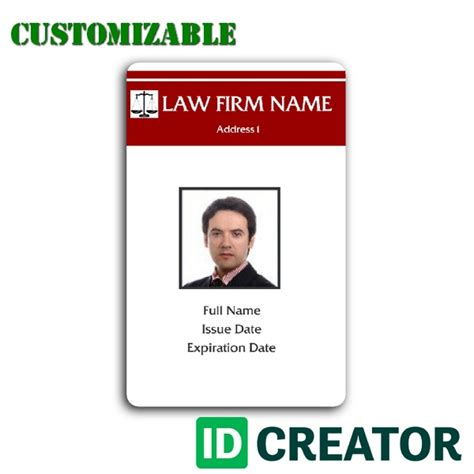 id cards template id card template made for an attorney from idcreator