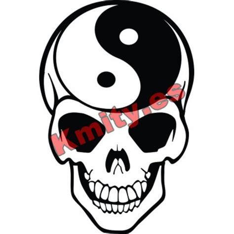 calavera ying yang blanco negro tatuaje tattoo interkul