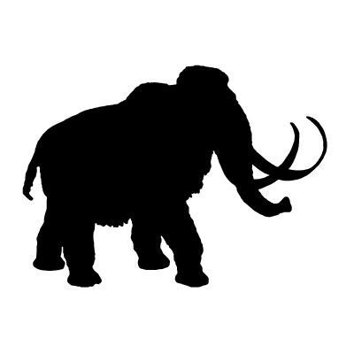 19 best images about elephant mammoth silhouette on