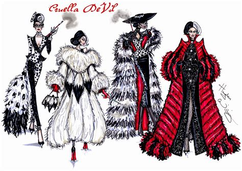 hayden williams fashion illustrations cruella de vil