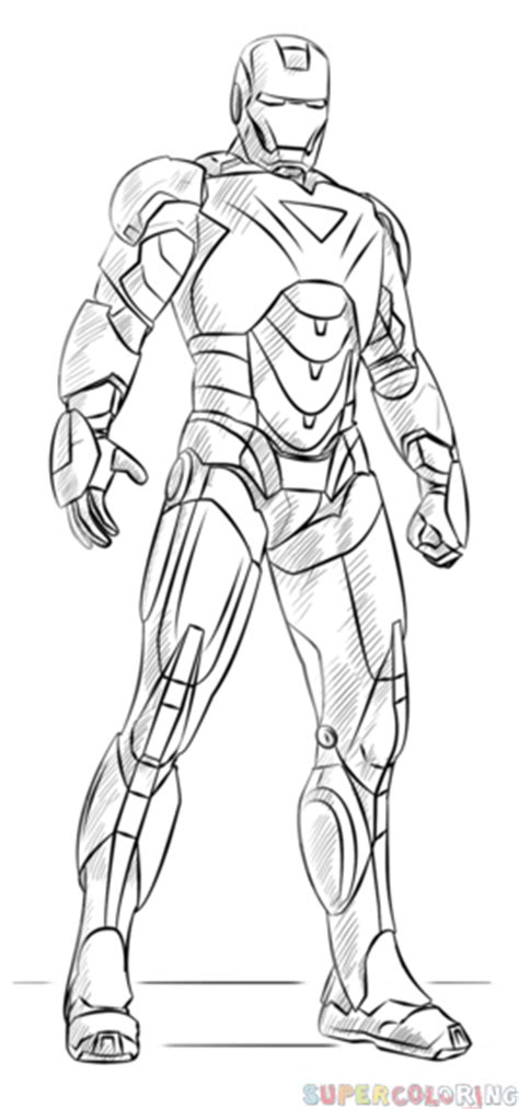 iron man mark 6 coloring pages how to draw iron man step by step drawing tutorials