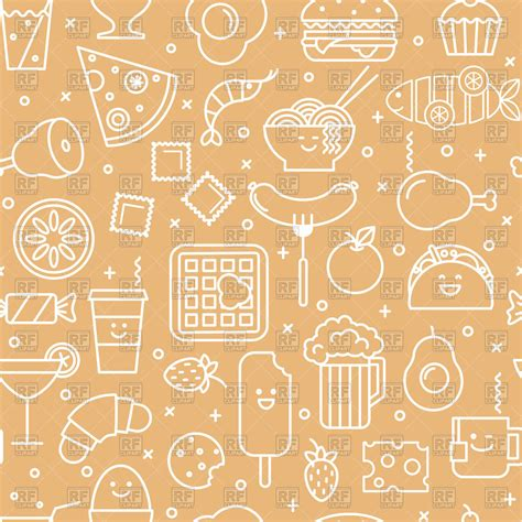icon pattern background free seamless pattern with fast food icons royalty free vector