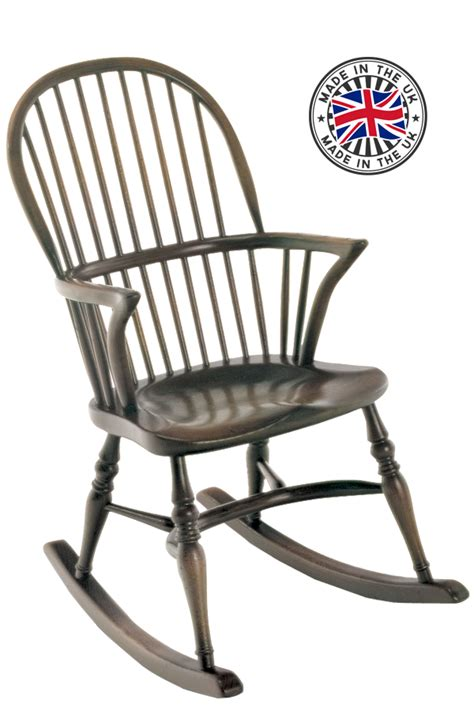 rocking armchair uk stick back double bow rocking chair
