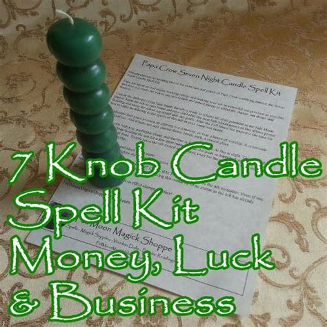 How Do You Spell Knob by Seven Knob Voodoo Candle Money Spell Kit Moon