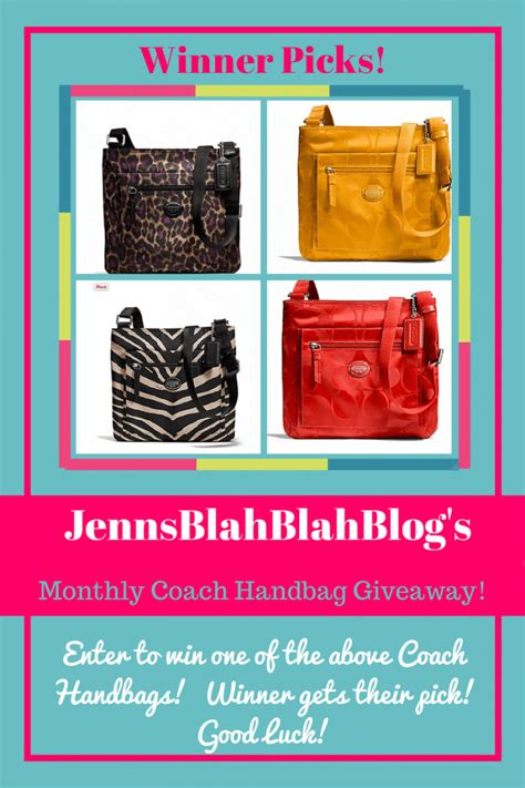 Handbag Giveaway - november reader appreciation coach handbag giveaway