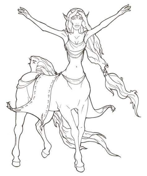centaur girl coloring page centaur coloring pages getcoloringpages com