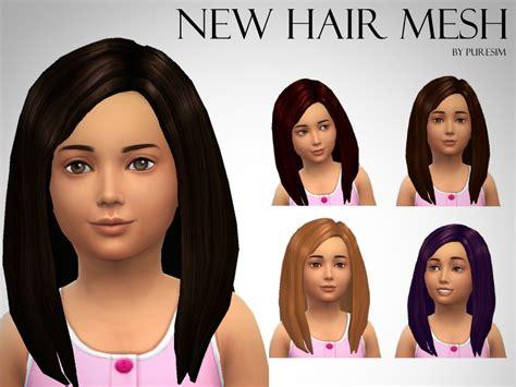 the sims 4 kids hair tsr newhairstylesformen2014com puresim s voluminous hair mesh for girls