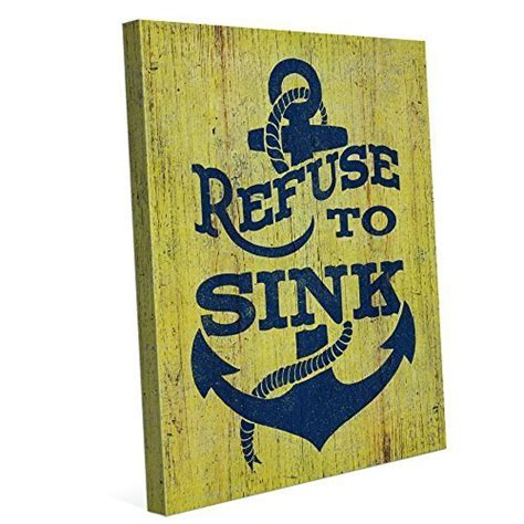 I Refuse To Sink Bible Verse by Bold And Rustic Distressed Wood Wall Home Wall