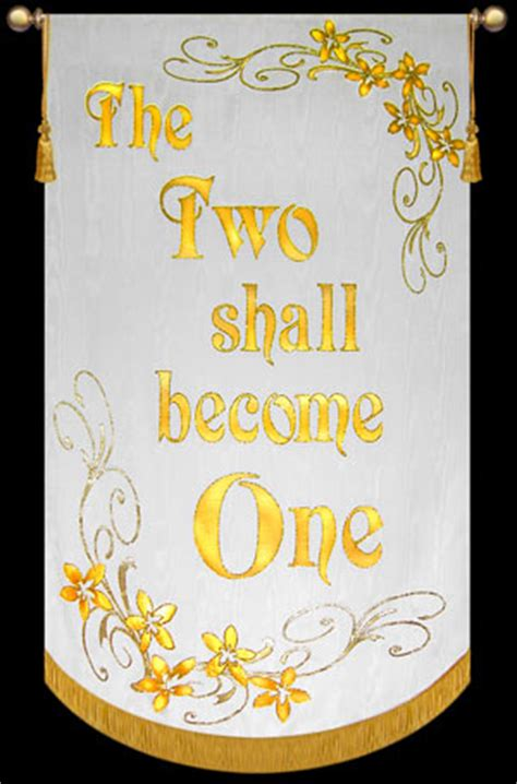 Wedding Banner For Church by The Two Shall Become One Wedding Banner Christian