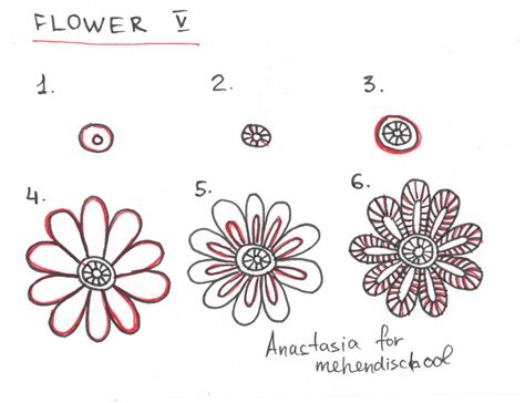 tutorial henna designs very easy how to draw a beautiful and smooth mehndi flower small