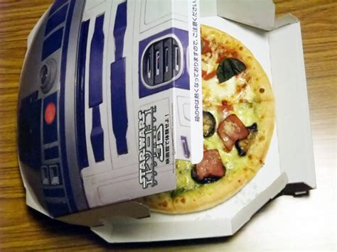 domino pizza japan r2 d2 themed pizza box by domino s japan