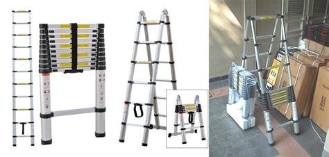 Tangga Aluminium 2m tangga aluminium teleskopik tangga aluminium praktis dan modern