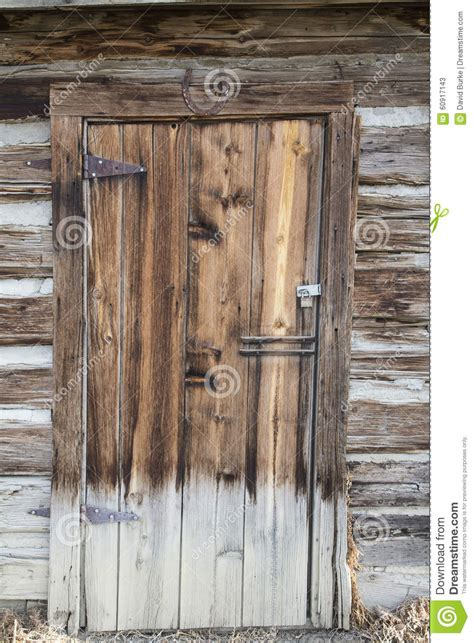 Small Log Cabin House Plans Vintage Wooden Cabin Door Stock Photo Image 60917143