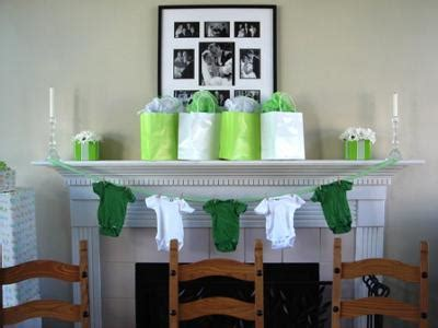 Green Baby Shower Decorations by Green And White Baby Shower