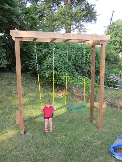 building a swing set pergola swing set plans furnitureplans