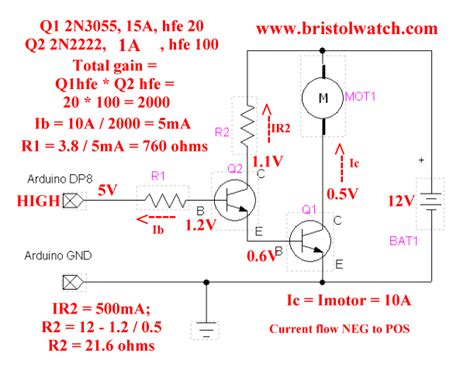 2n3055 transistor configuration understanding bipolar transistor switches