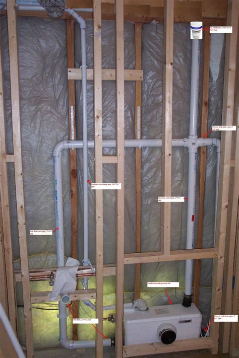 How To Do Bathroom Plumbing by Bathroom Plumbing Installing Drain And Vent