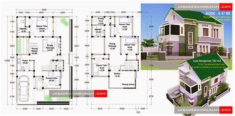 desain rumah minimalis 2 lantai lengkap gambar foto desain rumah
