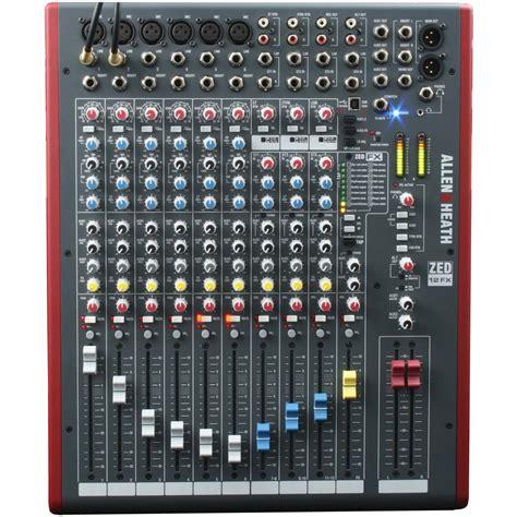 Mixer Allen Heath Zed 12fx allen heath zed 12fx vintage king pro audio outfitter