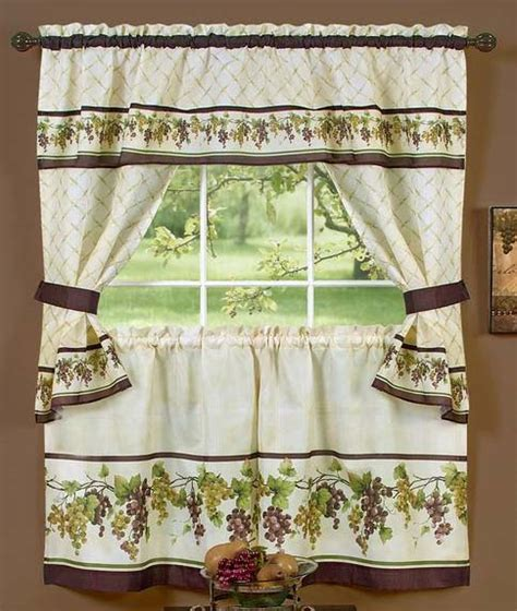 Cottage Kitchen Curtains Tuscany Tailored Curtain Cottage Set Complete Kitchen Sets