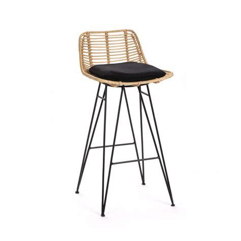chaise de bar en osier chaise de bar design en rotin 69cm capurgana drawer