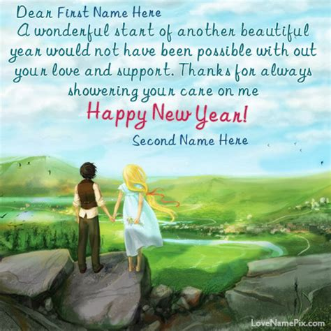 how to write new year greeting write name on new year wishes card images and made some ones new year more special