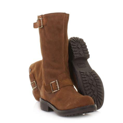 rocket boots womens womens rocket knockout suede knee high biker boots size 3 8 ebay