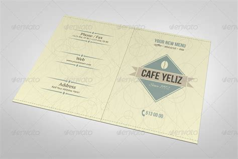 half fold menu template half fold coffee shop menu design by erseldondar