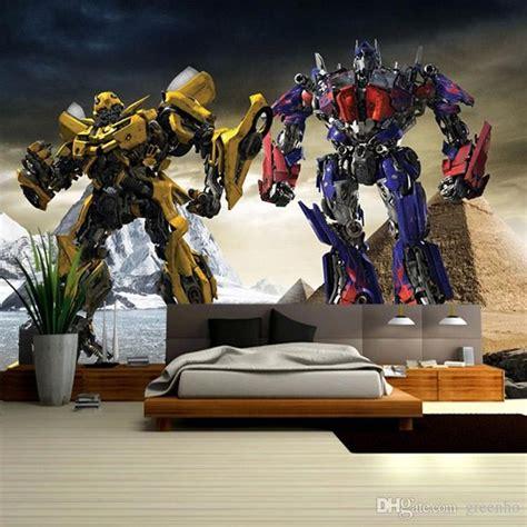 transformers bedroom 3d transformers photo wallpaper optimus prime bumblebee