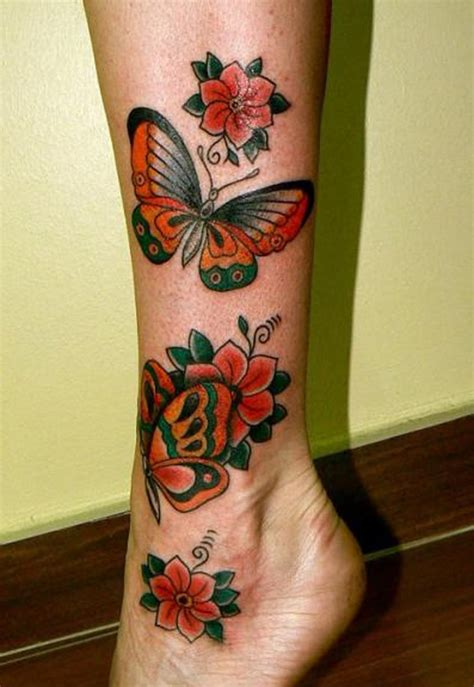 butterfly tattoo in legs leg tattoos and designs page 117